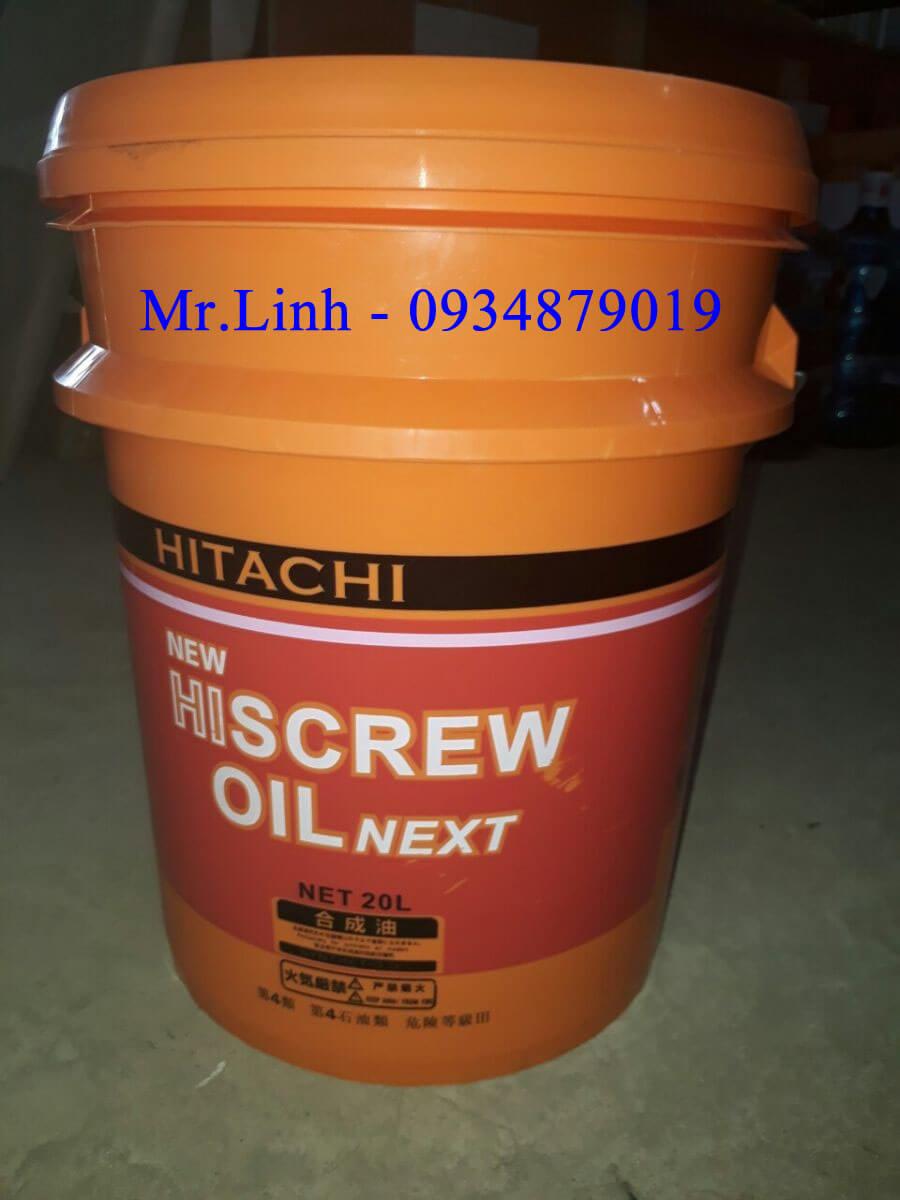 Dầu máy nén khí trục vít Hitachi